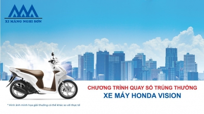 Tìm ra 12 khách hàng may mắn trúng xe khi mua xi măng Nghi Sơn