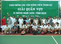 """Giải quần vợt """"Xi măng Nghi Sơn - Tình Bạn"""