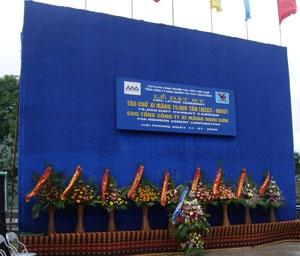 Lễ đặt ky tàu chuyên dụng chở xi măng của Công ty Xi măng Nghi Sơn